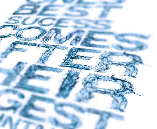 Waterproof 惊人的水系列字体图像艺术 字体设计 photoshop