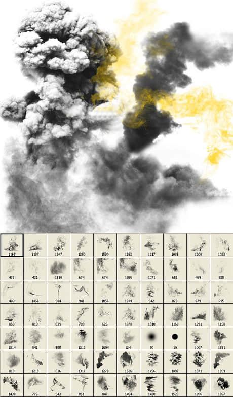 高品质特种烟雾爆炸燃烧场景效果ps笔刷素材下载地址