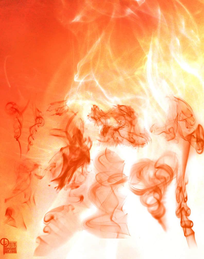 高清烟雾和火焰火光photoshop素材笔刷下载 烟雾笔刷 火光笔刷  flame brushes