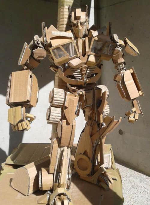 """来自台湾少年的终极""""瓦楞纸艺术""""创作欣赏 纸艺术创作 创意纸艺术  crazy ideas"""