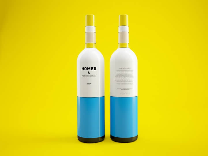 """酒瓶包装 """"配色方案"""" 来自于美国热播动漫《辛普森一家》 颜色搭配方案 酒瓶包装设计 产品包装设计  %e4%ba%a7%e5%93%81%e8%ae%be%e8%ae%a1%e5%8c%85%e8%a3%85%e8%ae%be%e8%ae%a1"""