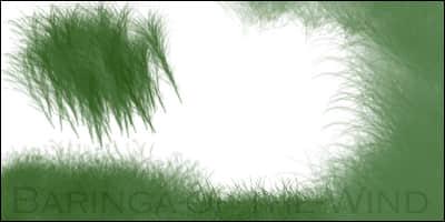 CG画笔小青草Photoshop笔刷素材 青草笔刷 CG画笔笔刷  photoshop brush plants brushes