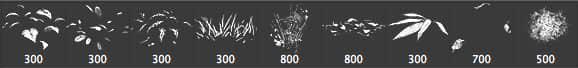 CG仿真树叶、落叶、草地、草丛、竹叶合集植物Photoshop笔刷 青草笔刷 落叶笔刷 草地笔刷 草丛笔刷 竹叶笔刷 树叶笔刷  plants brushes