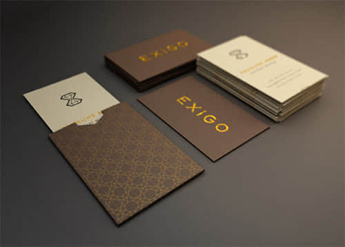 25+富贵靓丽的烫金纹名片样式设计方案参考 国外名片设计 名片设计  enterprise culture