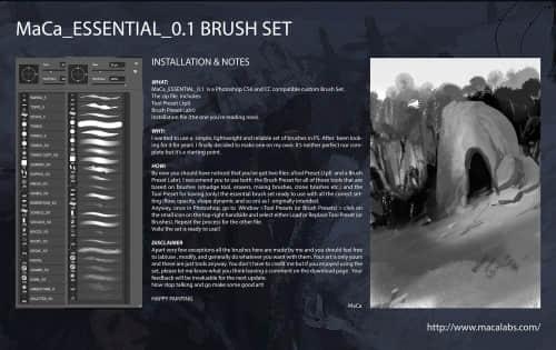 CG自由创作型Photoshop笔刷素材下载 绘画笔刷 数字艺术笔刷 插画笔刷 CG笔刷  photoshop brush