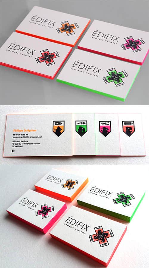 30个夺人眼球的亮色名片设计方案 国外名片设计  enterprise culture