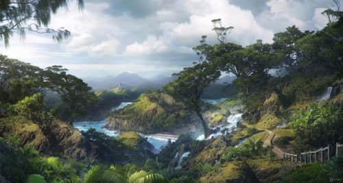 超多丛林场景创建、植被景物树木Photoshop笔刷大合集 自然景物笔刷 植被笔刷 森林笔刷 树木笔刷 场景创建笔刷 丛林笔刷  plants brushes