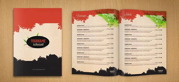 餐馆菜谱、产品目录PSD模版素材下载 产品目录psd模版素材  other material