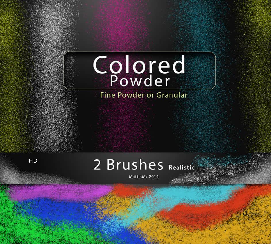 七彩颗粒、粉尘、灰尘效果Photoshop笔刷素材 颗粒笔刷 粉尘笔刷 灰尘笔刷  other brushes
