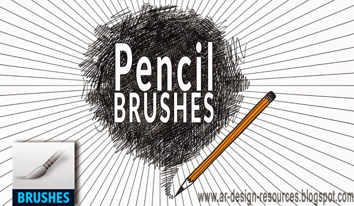 20个免费铅笔画笔PS笔刷素材下载 铅笔笔刷 笔触笔刷 画笔笔触笔刷  photoshop brush
