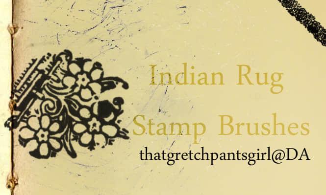古朴的印度印花、花纹图案PS笔刷 植物花纹笔刷 印花笔刷  flowers brushes