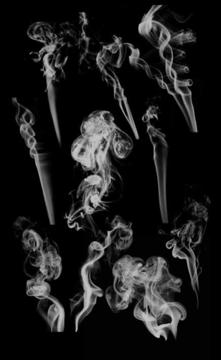 多种烟雾效果Photoshop笔刷下载 烟雾笔刷  flame brushes