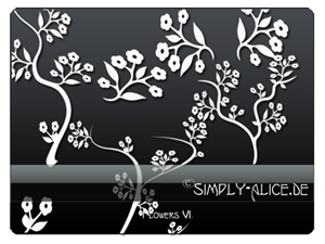 植物鲜花、印花图案PS笔刷 植物花纹笔刷  flowers brushes