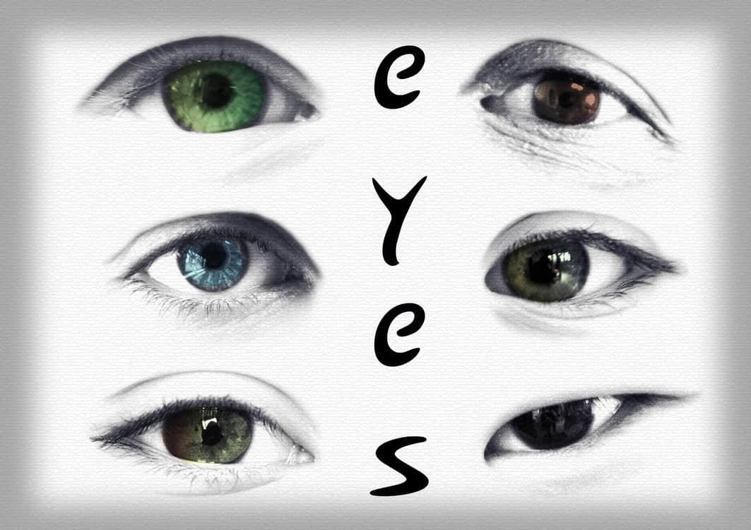 28个漂亮的眼睛Photoshop人体笔刷 眼睛笔刷 人体笔刷  characters brushes