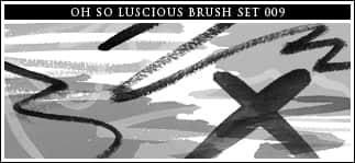 丝带与蜡笔涂鸦笔迹Photoshop笔刷 蜡笔笔刷 笔迹笔刷 丝带笔刷  photoshop brush