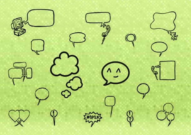 手绘可爱消息框、气泡框、对话框涂鸦PS笔刷 美图笔刷 消息框笔刷 对话框笔刷  %e6%b6%82%e9%b8%a6%e7%ac%94%e5%88%b7