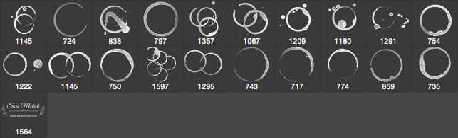 咖啡杯、茶水杯杯底污渍、水迹Photoshop痕迹笔刷 污渍笔刷 水渍笔刷  %e6%b2%b9%e6%bc%86%e7%ac%94%e5%88%b7 other brushes