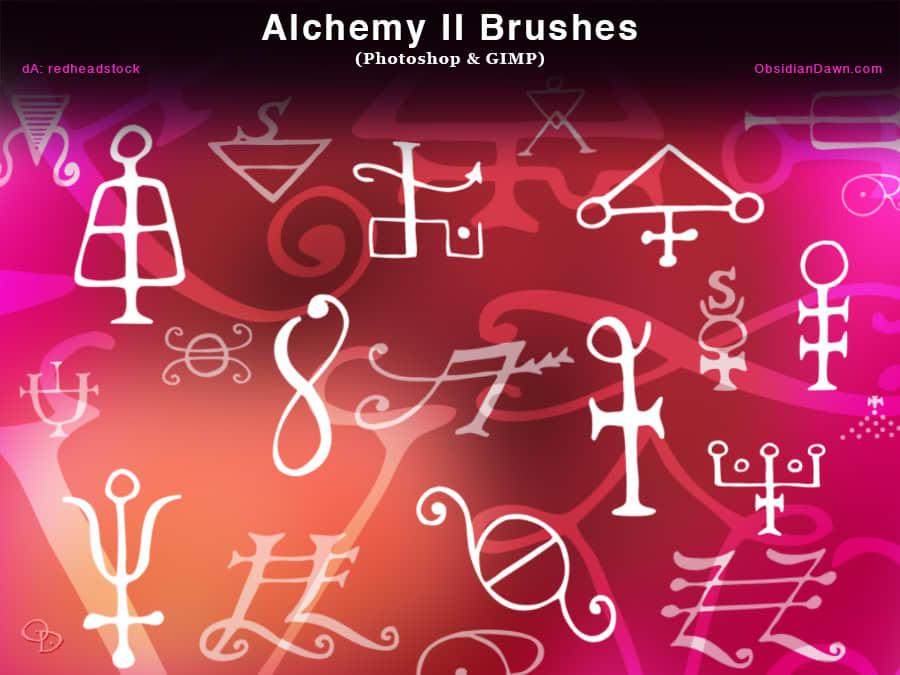 魔法炼金术符号Photoshop字符笔刷 魔法符号笔刷 神秘符号笔刷  symbols brushes