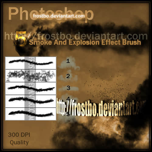 爆炸烟尘效果Photoshop笔刷下载 爆炸笔刷 烟尘笔刷  flame brushes