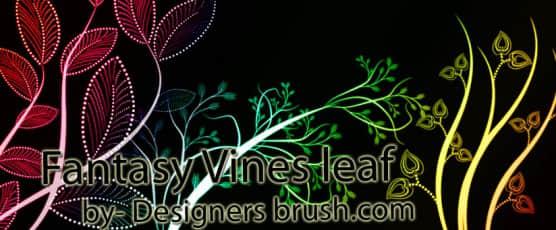 漂亮的植物艺术花纹图案Photoshop笔刷素材 植物花纹笔刷 印花笔刷  flowers brushes