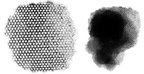 蜂窝状纹理图形Photoshop笔刷素材 蜂窝笔刷  background brushes