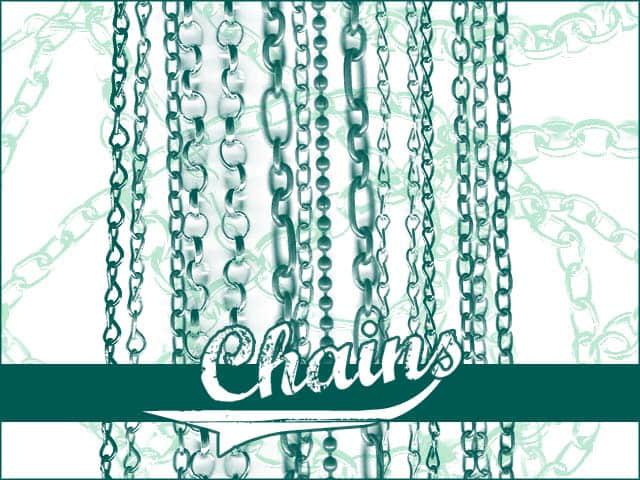 14种不同风格样式的铁链、锁链、链子Photoshop笔刷下载 锁链笔刷 铁链笔刷  other brushes