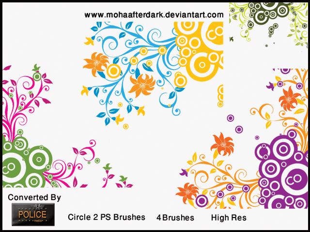 时尚靓丽艺术植物花纹图案Photoshop笔刷素材 植物花纹笔刷  flowers brushes