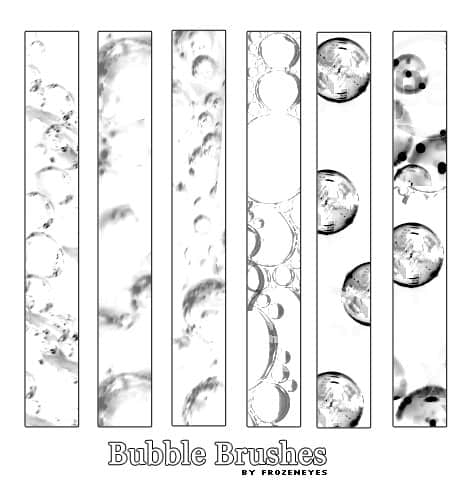 透明泡沫、气泡、水泡Photoshop泡泡笔刷下载 泡泡i表示 水泡笔刷 气泡笔刷  water brushes