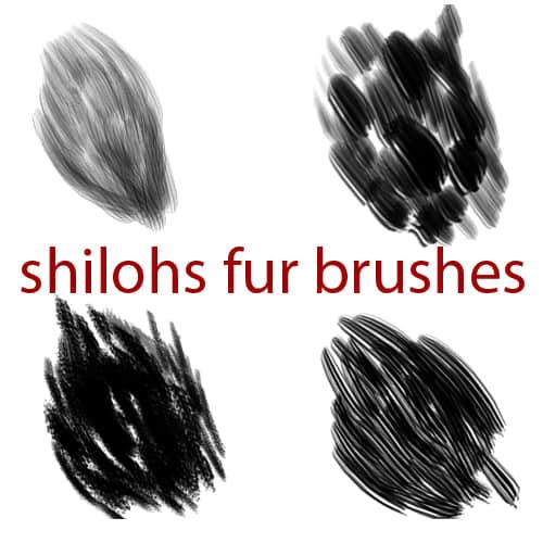 4种毛发纹理样式Photoshop笔刷素材 绒毛笔刷 皮毛笔刷 发丝笔刷  %e6%af%9b%e5%8f%91%e7%ac%94%e5%88%b7