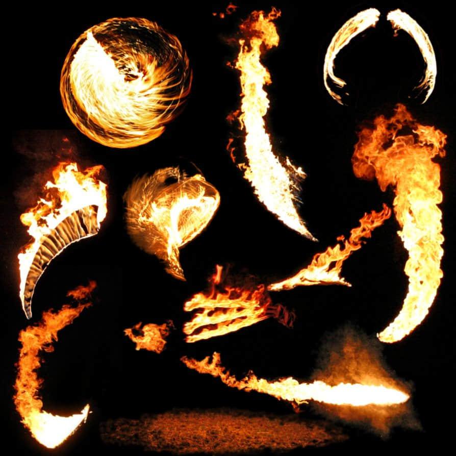 10种火焰、火光、火球效果素材PS笔刷下载(已扣PNG图片) 燃烧笔刷 火球笔刷 火光笔刷 喷射火焰笔刷  flame brushes