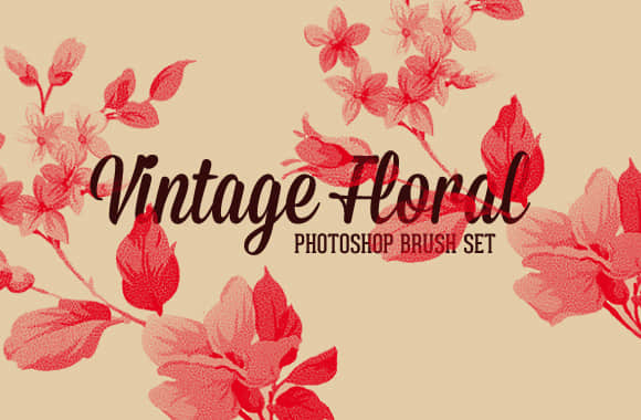 复古式刺绣、水墨状花纹、鲜花图案Photoshop笔刷 鲜花笔刷 复古花纹笔刷  flowers brushes