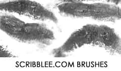 女性口红印记、唇印PS笔刷素材下载 唇印笔刷 口红笔刷  characters brushes