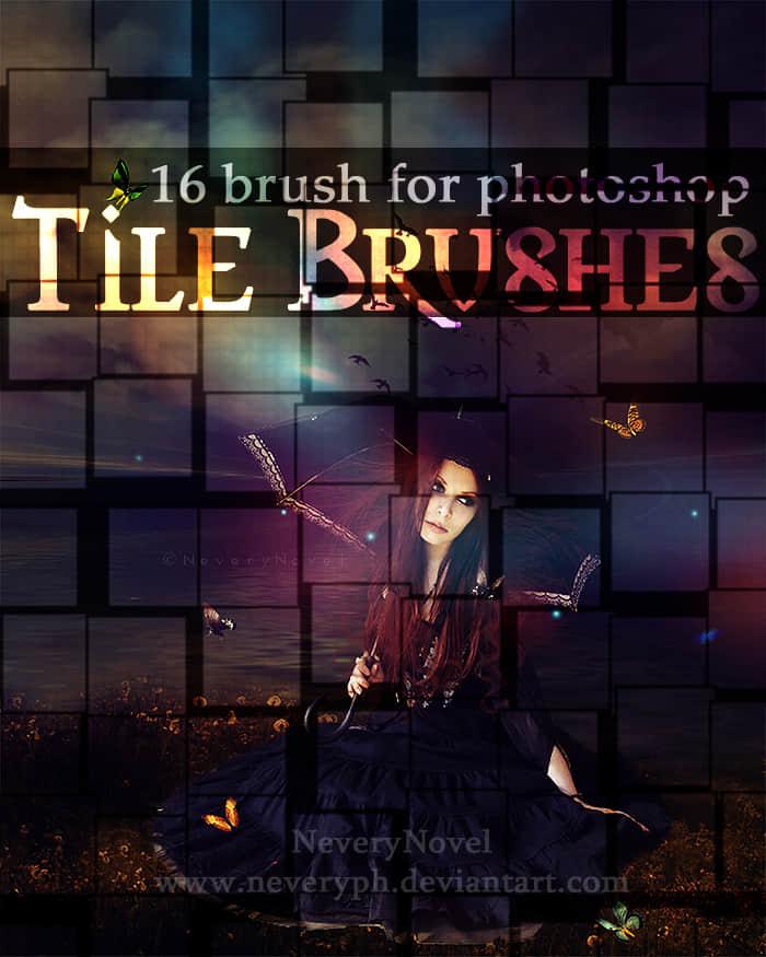 动感方块矩阵Photoshop背景笔刷素材 音乐笔刷 矩阵笔刷  background brushes