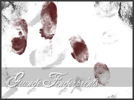 指纹痕迹PS笔刷(图片格式) 指纹笔刷  characters brushes