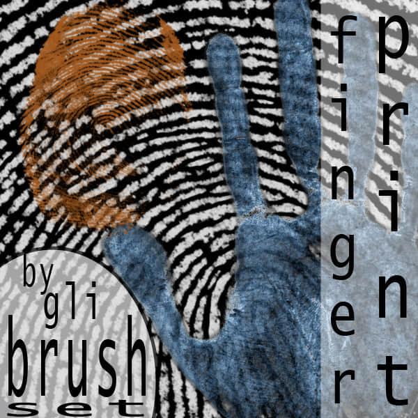 手掌掌纹、手指指纹PS笔刷下载 掌纹笔刷 指纹笔刷 手掌笔刷  characters brushes
