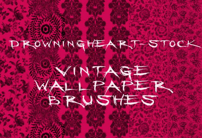 古典印花图案PS墙壁花纹笔刷 古典花纹笔刷 印花笔刷  flowers brushes