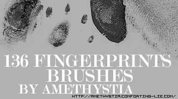 136枚指纹PS笔刷素材 指纹笔刷  characters brushes