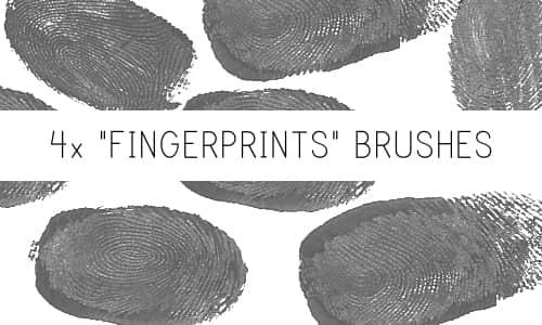 血手指指纹、按手印、指印PS笔刷下载 按手印笔刷 指纹笔刷  characters brushes