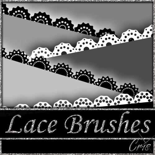 矢量蕾丝花纹图案Photoshop笔刷素材 蕾丝花纹笔刷  flowers brushes