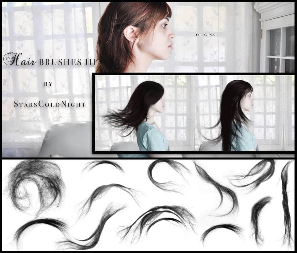 飘逸飞散的长发、女士发型、真实头发Photoshop笔刷下载 长发笔刷 女士发型笔刷 头发笔刷  %e6%af%9b%e5%8f%91%e7%ac%94%e5%88%b7