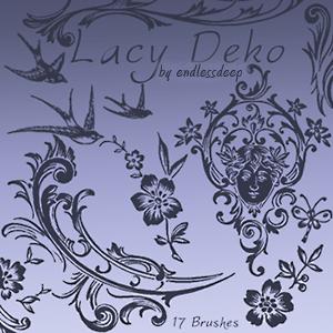尊贵欧式贵族花纹图案PS笔刷下载 贵族花纹笔刷 植物花纹笔刷 印花笔刷  flowers brushes