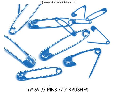 真实的回形针Photoshop笔刷下载 回形针笔刷 办公笔刷  other brushes