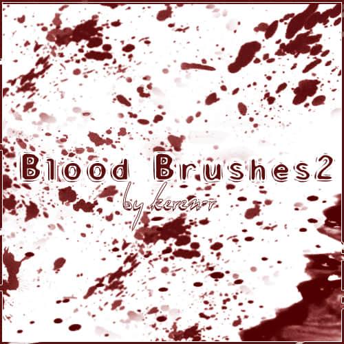 血迹斑斑效果PS笔刷免费下载 血迹笔刷 血斑笔刷  characters brushes