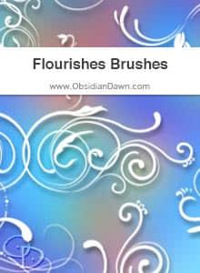 优雅的植物印花图案PS笔刷下载 植物花纹笔刷 印花笔刷  flowers brushes