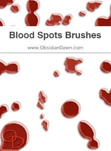 血滴、血渍、水渍、水迹PS笔刷下载 血迹笔刷 血滴笔刷 水渍笔刷  water brushes characters brushes