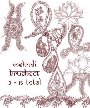 漂亮细致的手绘印花图案PS笔刷下载 植物花纹笔刷 手绘花纹笔刷 印花笔刷  flowers brushes
