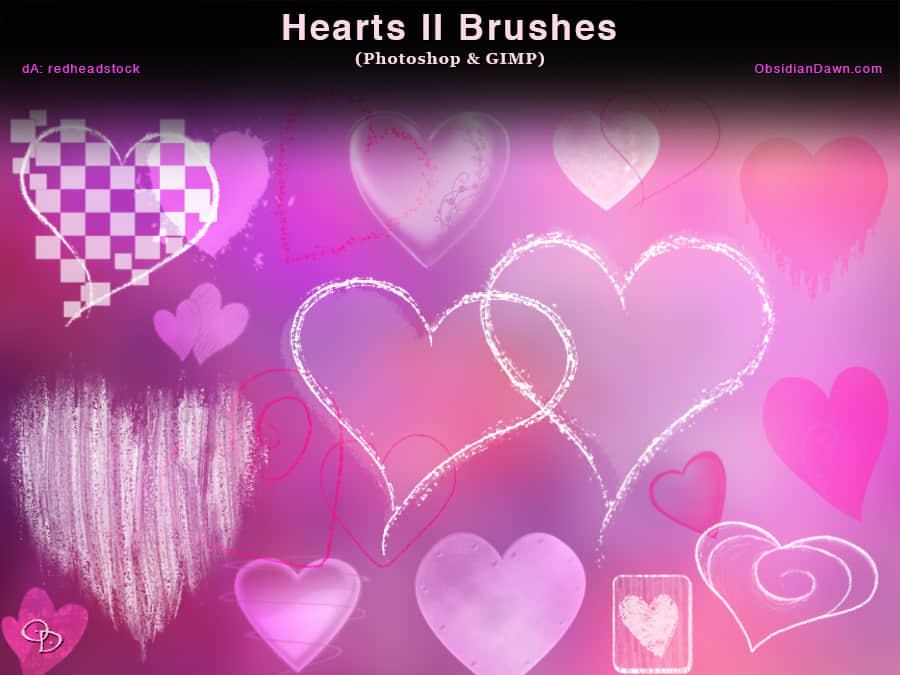 温馨时尚爱心图案装饰PS情人节爱心笔刷 爱心笔刷 情人节笔刷  love brushes