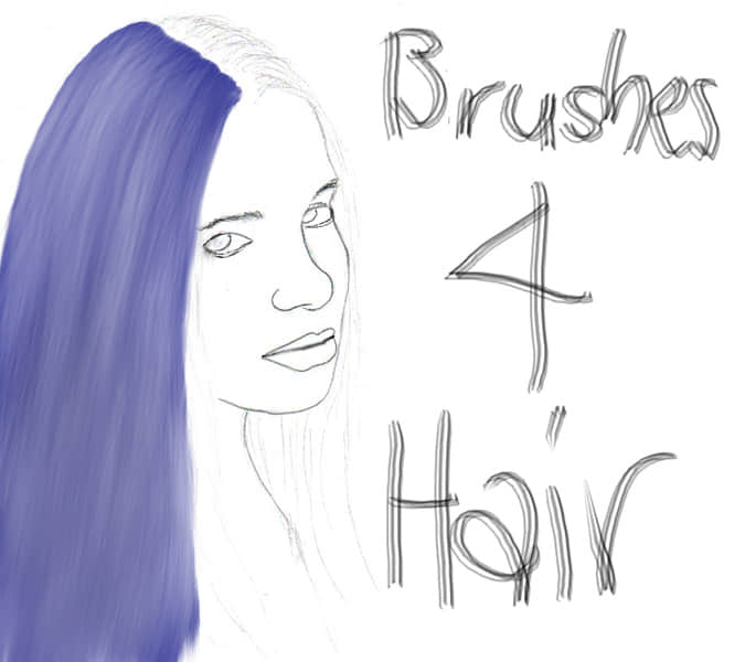 简单的细腻头发PS笔刷下载 毛发笔刷 头发笔刷 CG笔刷  %e6%af%9b%e5%8f%91%e7%ac%94%e5%88%b7