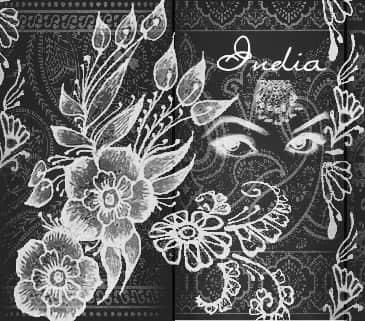 漂亮的石刻印花、花纹图案Photoshop笔刷素材 植物花纹笔刷 手绘花纹笔刷 印花笔刷  flowers brushes