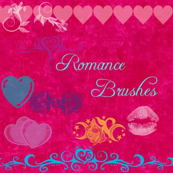浪漫性感情人节Photoshop装饰笔刷素材下载 情人节笔刷 恋爱笔刷 性感笔刷  love brushes